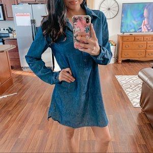 JW   Blue denim like dress shirt
